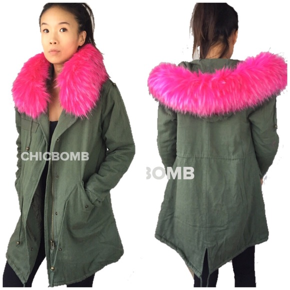 CHICBOMB Jackets & Blazers - STREET VIBE faux Fur parka coat.